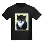 Tuxedo Cat Kids Dark T-Shirt