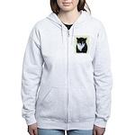 Tuxedo Cat Women's Zip Hoodie