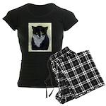 Tuxedo Cat Women's Dark Pajamas