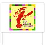 Crawfish: New Orleans, La Yard Sign