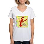 Crawfish: New Orleans, La Women's V-Neck T-Shirt