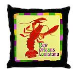 Crawfish: New Orleans, La Throw Pillow
