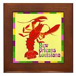 Crawfish: New Orleans, La Framed Tile