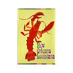 Crawfish: New Orleans, La Rectangle Magnet