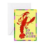 Crawfish: New Orleans, La Greeting Cards (Pk of 20