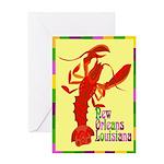 Crawfish: New Orleans, La Greeting Card