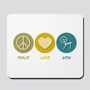 Peace Love Spin Mousepad