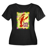 Crawfish Fest Women's Plus Size Scoop Neck Dark T-