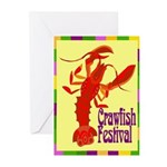 Crawfish Fest Greeting Cards (Pk of 10)