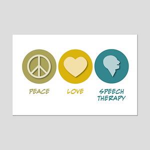 Peace Love Speech Therapy Mini Poster Print