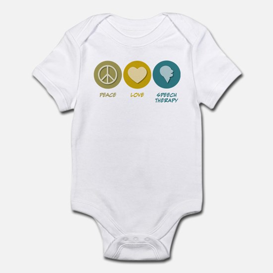 Peace Love Speech Therapy Infant Bodysuit
