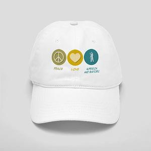 Peace Love Speech and Rhetorical Studies Cap