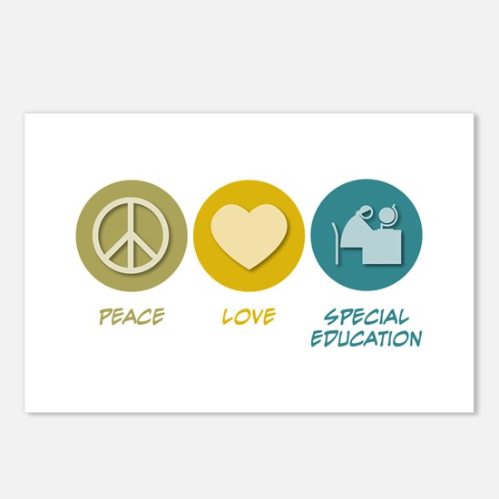 Peace Love Special Education Postcards (Package of