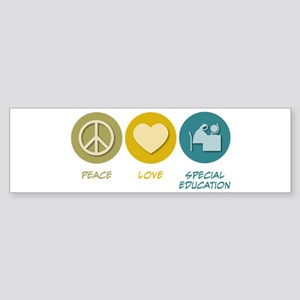 Peace Love Special Education Bumper Sticker