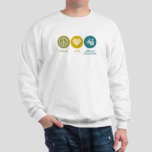 Peace Love Special Education Sweatshirt