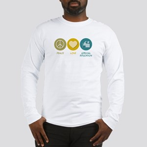 Peace Love Special Education Long Sleeve T-Shirt