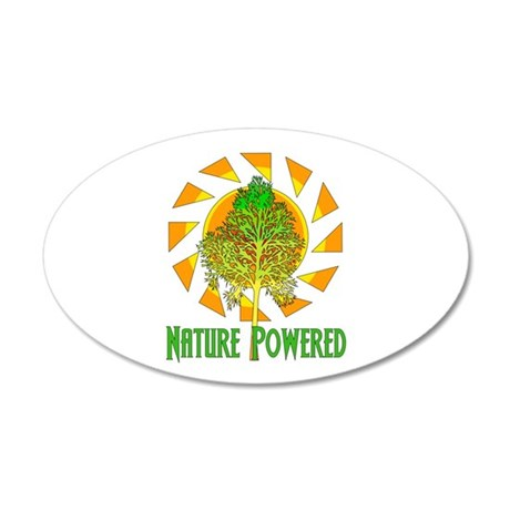 Nature Powered 35x21 Oval Wall Decal