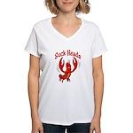 Suck Heads Women's V-Neck T-Shirt