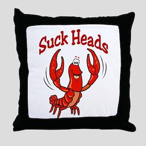 Suck Heads Throw Pillow
