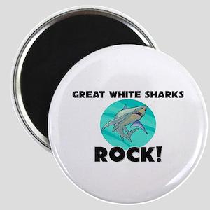 Great White Sharks Rock! Magnet
