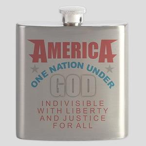 America Under God Flask