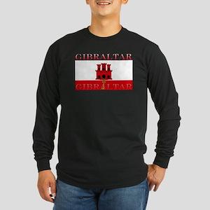 Gibraltar Flag Long Sleeve Dark T-Shirt