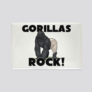 Gorillas Rock! Rectangle Magnet