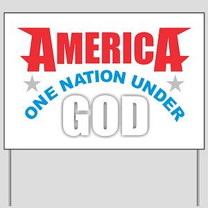 America Under God Yard Sign