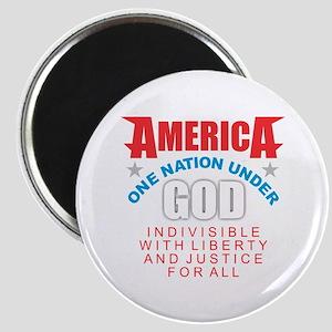 America Under God Magnets
