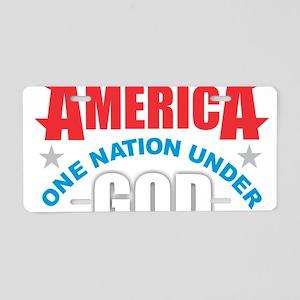 America Under God Aluminum License Plate