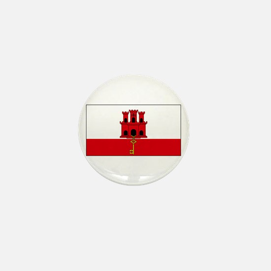 Gibraltar Blank Flag Mini Button