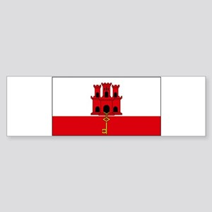 Gibraltar Blank Flag Bumper Sticker