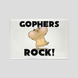 Gophers Rock! Rectangle Magnet