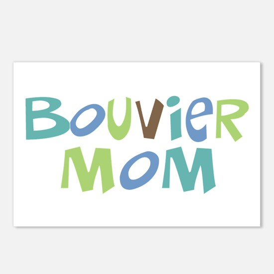 Bouvier Mom (Text) Postcards (Package of 8)