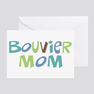 Bouvier Mom (Text) Greeting Card