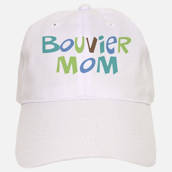 Bouvier Mom (Text) Baseball Baseball Cap