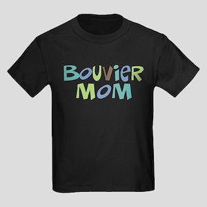 Bouvier Mom (Text) Kids Dark T-Shirt