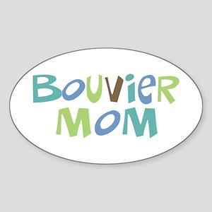 Bouvier Mom (Text) Oval Sticker