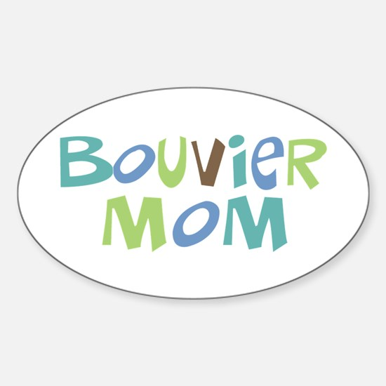 Bouvier Mom (Text) Oval Decal