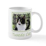 Tuxedo Cat in Window 11 oz Ceramic Mug