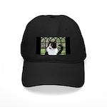 Tuxedo Cat in Window Black Cap with Patch