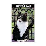Tuxedo Cat in Window Sticker (Rectangle)
