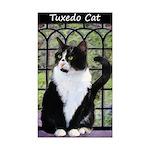 Tuxedo Cat in Window Sticker (Rectangle 50 pk)