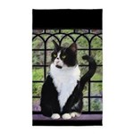 Tuxedo Cat in Window Area Rug