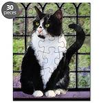 Tuxedo Cat in Window Puzzle