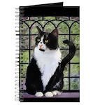 Tuxedo Cat in Window Journal