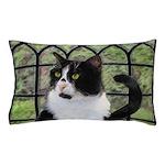 Tuxedo Cat in Window Pillow Case