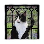 Tuxedo Cat in Window Queen Duvet