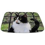 Tuxedo Cat in Window Bathmat