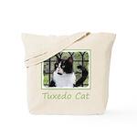 Tuxedo Cat in Window Tote Bag